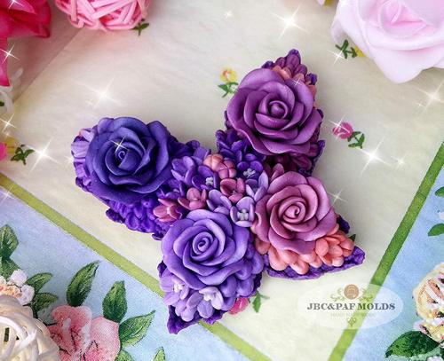 Soap Molds Polymer Clay Molds Cake Decorating Tools Resin Flower butterfly silicone soap mold