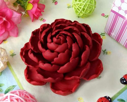 Soap Molds Polymer Clay Molds Cake Decorating Tools Resin LARGE Flower Silicone MOLD
